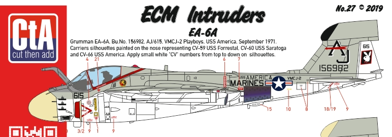 "CTA-027 1/72 ""ECM Intruders"" EA-6A"