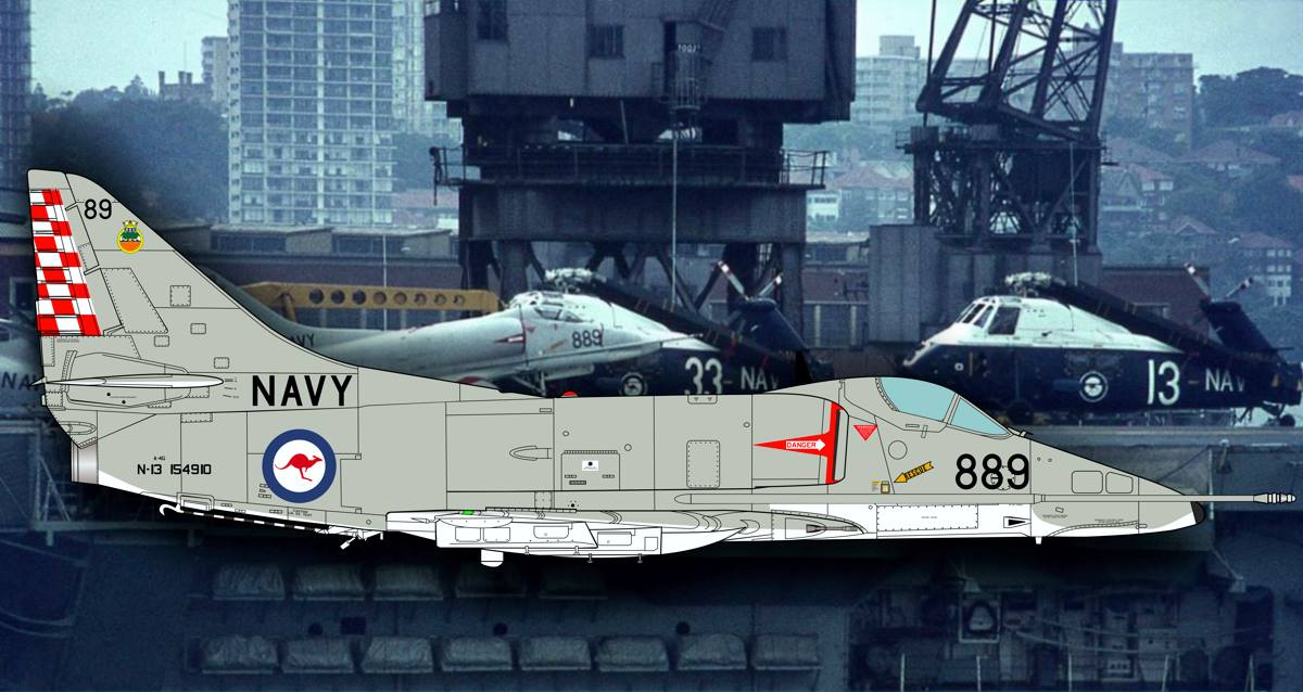 "A-4G Skyhawk - CTA Decal ""Aussie over the Seas"""